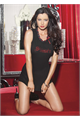 Sexy Sinner Chemise Black/Red Os